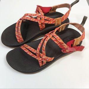 Chaco | Chaco Z / Cloud X Orange Red Print Sandal